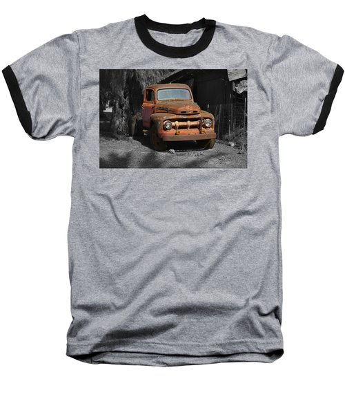 Old Ford Truck Baseball T-Shirt by Richard J Cassato