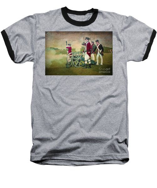 Baseball T-Shirt featuring the digital art Old Fort Niagara by Lianne Schneider