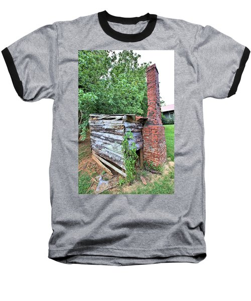 Baseball T-Shirt featuring the photograph Old Georgia Smokehouse by Gordon Elwell