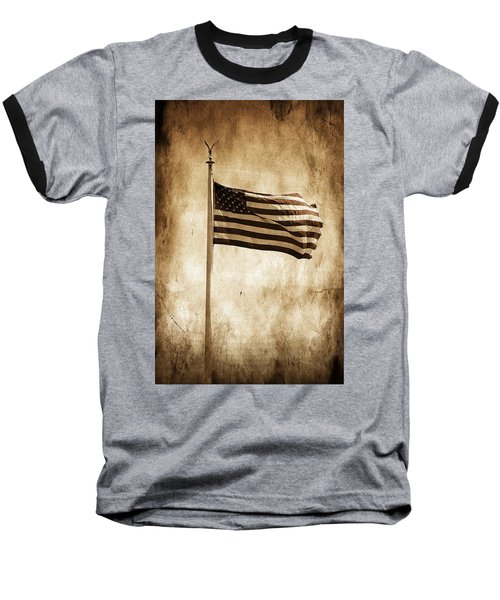 Old Glory Baseball T-Shirt by Aaron Berg