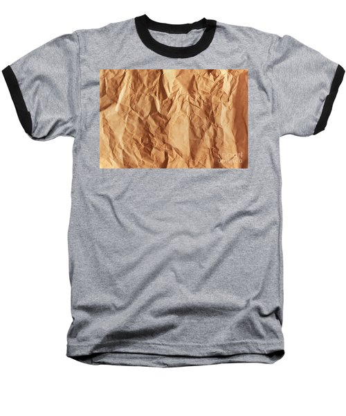 Old Grunge Creased Paper Texture. Retro Vintage Background Baseball T-Shirt