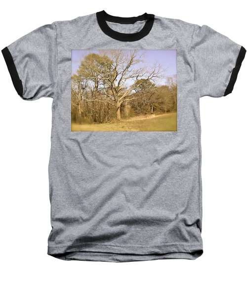 Baseball T-Shirt featuring the photograph Old Haunted Tree by Amazing Photographs AKA Christian Wilson