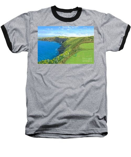 Old Head Golf Club Ireland Baseball T-Shirt by Tim Gilliland