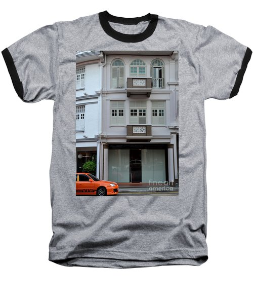 Baseball T-Shirt featuring the photograph Old House And Funky Orange Car by Imran Ahmed