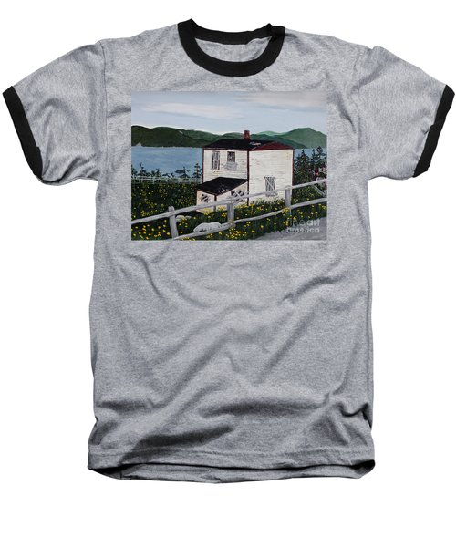 Baseball T-Shirt featuring the painting Old House - If Walls Could Talk by Barbara Griffin