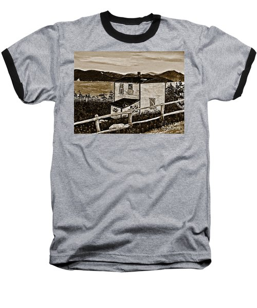 Old House In Sepia Baseball T-Shirt