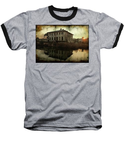 Old House On Canal Baseball T-Shirt