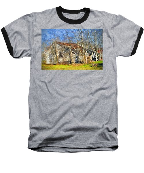 Old House Baseball T-Shirt by Savannah Gibbs