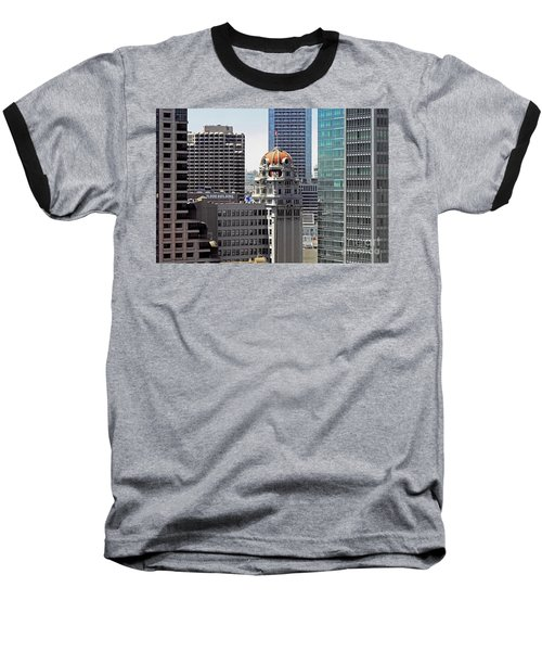 Baseball T-Shirt featuring the photograph Old Humboldt Bank Building In San Francisco by Susan Wiedmann