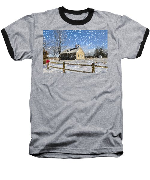 Baseball T-Shirt featuring the photograph Old Kansas Schoolhouse by Liane Wright