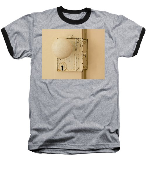 Old Lock Baseball T-Shirt by Photographic Arts And Design Studio