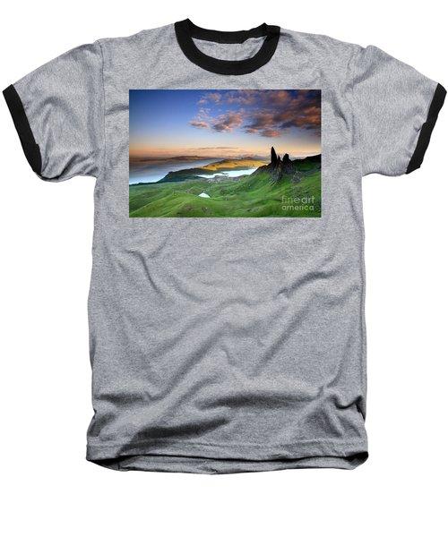 Baseball T-Shirt featuring the photograph  Scotland Old Man Of Storr Isle Of Skye by Mariusz Czajkowski