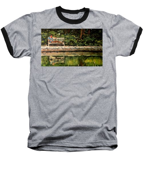 Old Man On A Bench Baseball T-Shirt