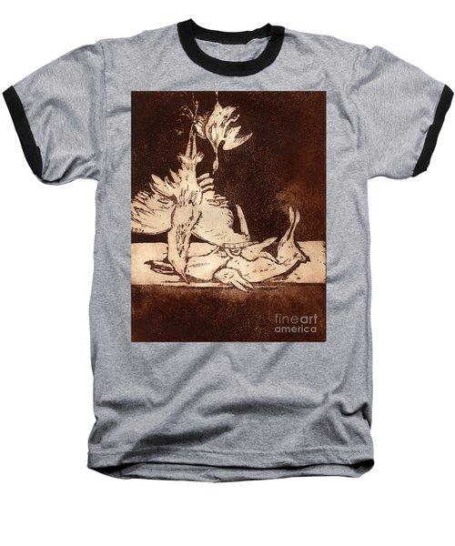 Old Masters Still Life - With Great Bittern Duck Rabbit - Nature Morte - Natura Morta - Still Life Baseball T-Shirt