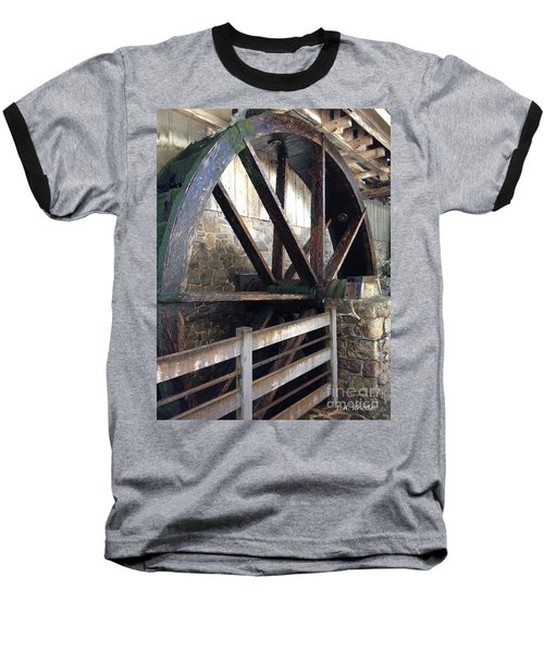 Baseball T-Shirt featuring the photograph Old Mill Water Wheel by Jeannie Rhode