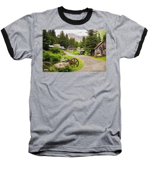 Old Mining Alaskan Town Baseball T-Shirt