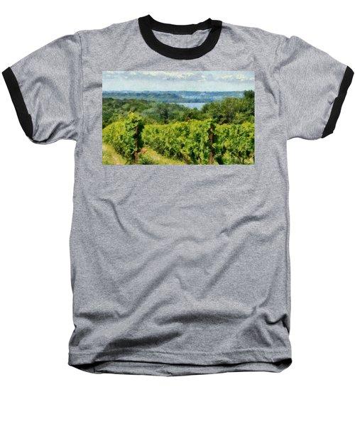 Old Mission Peninsula Vineyard Baseball T-Shirt