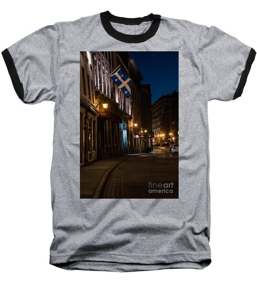 Old Montreal At Night Baseball T-Shirt