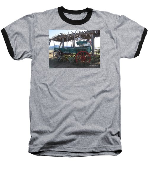 Baseball T-Shirt featuring the photograph Old Native American Wagon by Dora Sofia Caputo Photographic Art and Design