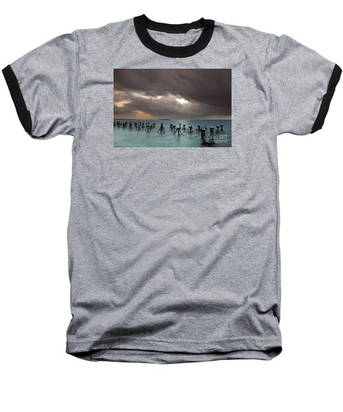 Old Pier In The Florida Keys Baseball T-Shirt