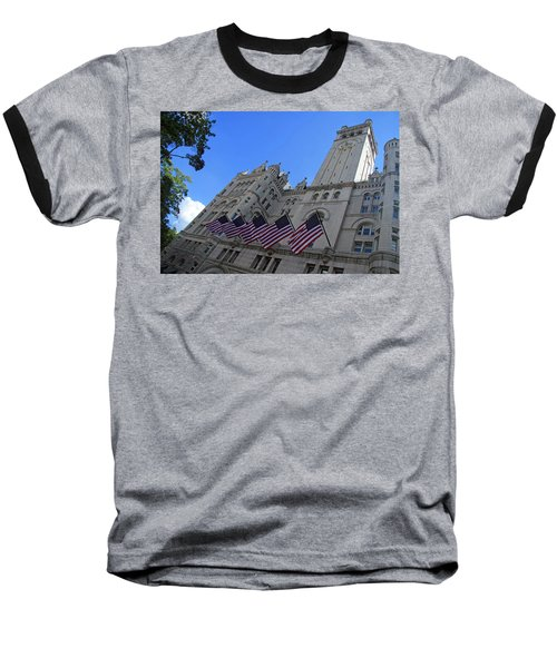 The Old Post Office Or Trump Tower Baseball T-Shirt by Cora Wandel