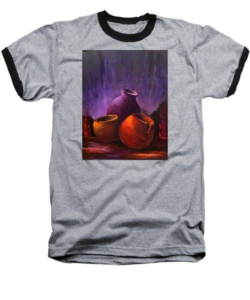 Baseball T-Shirt featuring the painting Old Pots 2 by Bozena Zajaczkowska