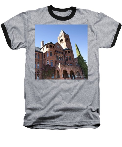 Old Preston Castle Baseball T-Shirt by David Millenheft