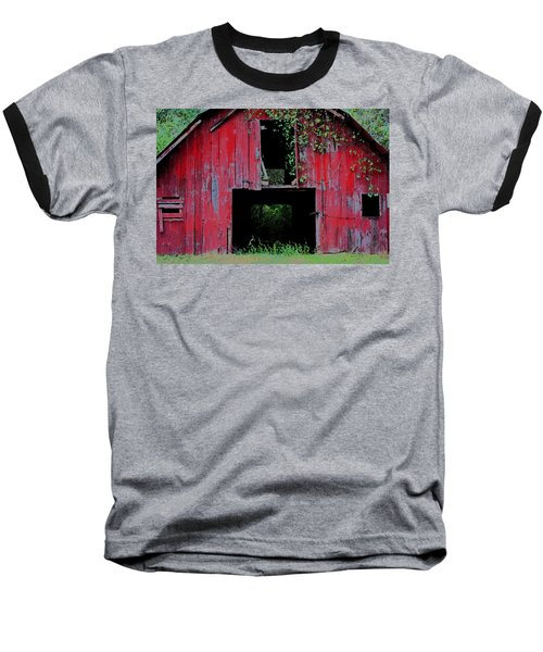 Baseball T-Shirt featuring the photograph Old Red Barn IIi by Lanita Williams