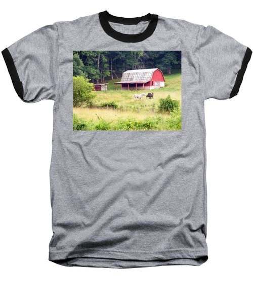 Old Red Barn West Of Brevard Nc Baseball T-Shirt