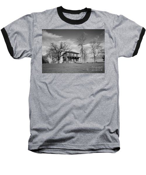 Old Rustic House On A Hill Baseball T-Shirt