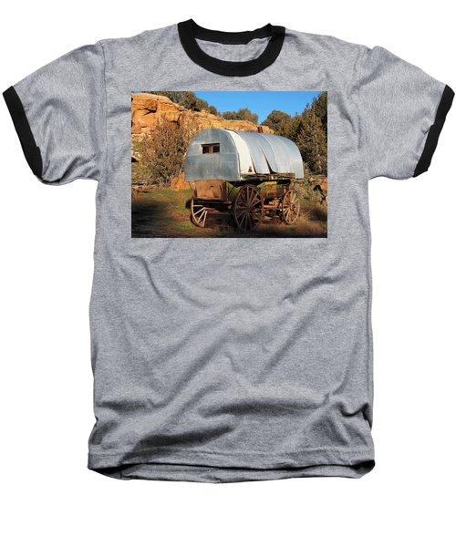 Old Sheepherder's Wagon Baseball T-Shirt by Nadja Rider