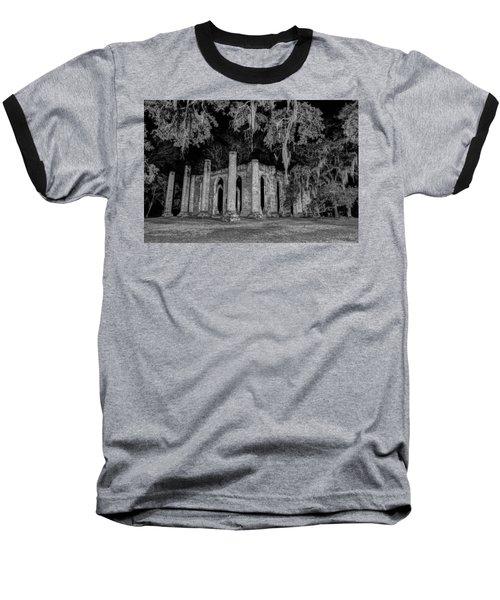 Old Sheldon Church At Night Baseball T-Shirt