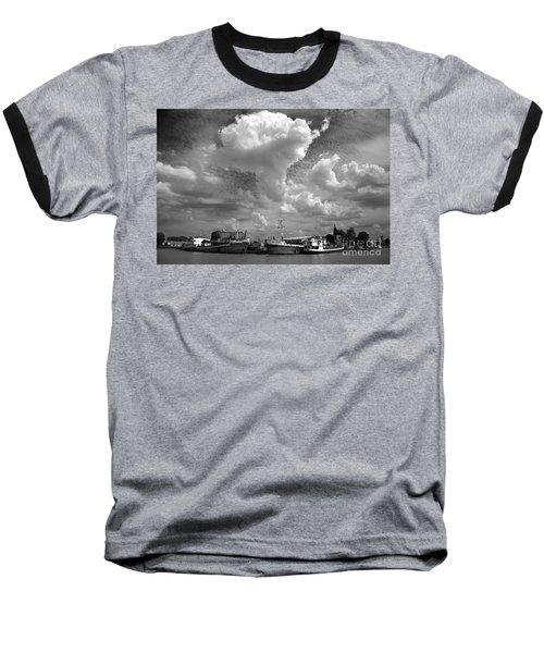 Old Ships Baseball T-Shirt by Bernardo Galmarini