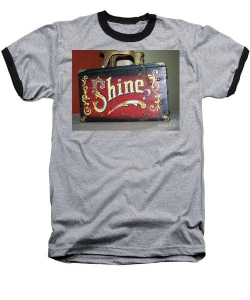 Old Shoe Shine Kit Baseball T-Shirt by Pamela Walrath