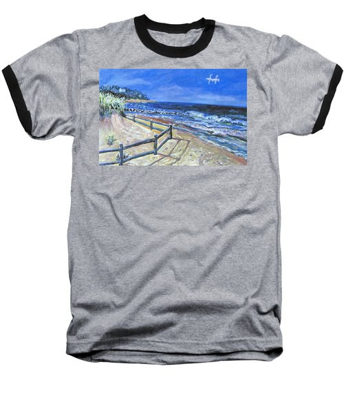 Old Silver Beach Baseball T-Shirt by Rita Brown