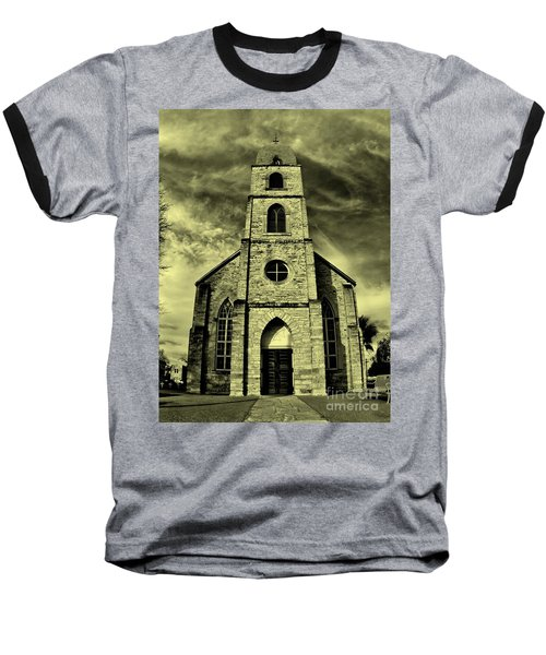 Old St. Mary's Church In Fredericksburg Texas In Sepia Baseball T-Shirt