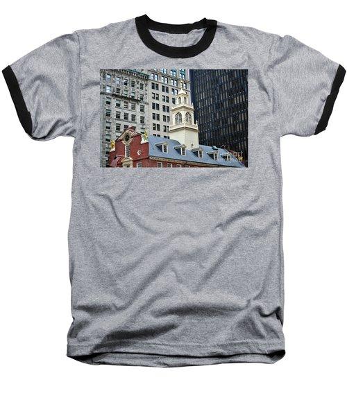 Old State House Boston Ma Baseball T-Shirt