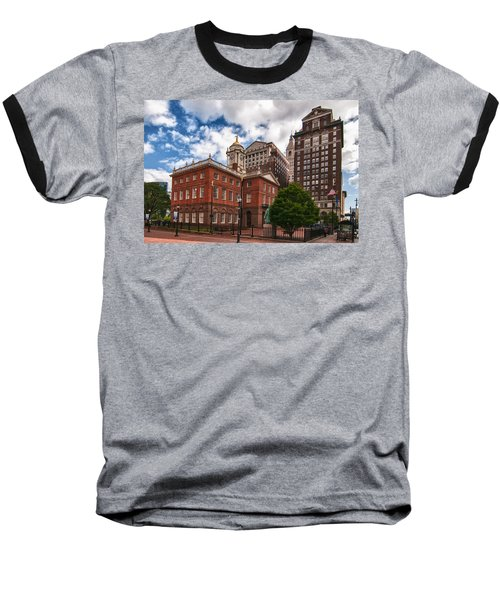 Old State House Baseball T-Shirt by Guy Whiteley