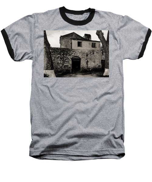 Old Stone House And Wall  Baseball T-Shirt