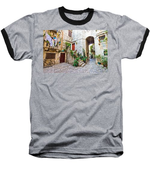 Old Stone Street Of Trogir Baseball T-Shirt by Brch Photography