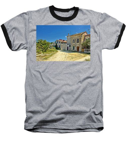 Old Streets Of Susak Island Baseball T-Shirt by Brch Photography