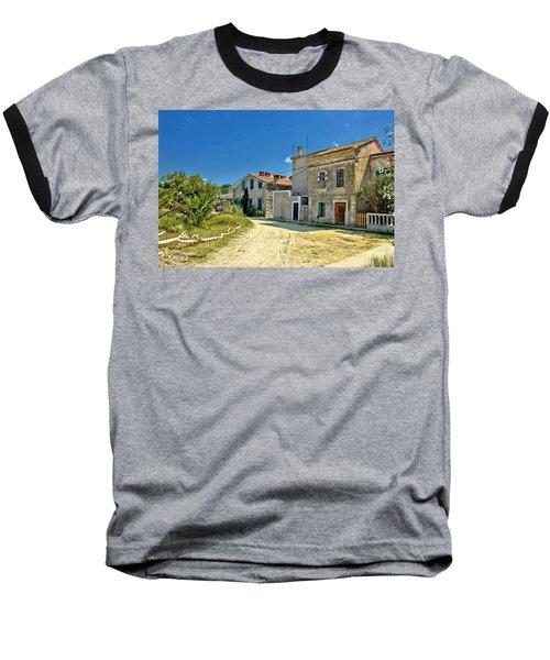 Old Streets Of Susak Island Baseball T-Shirt
