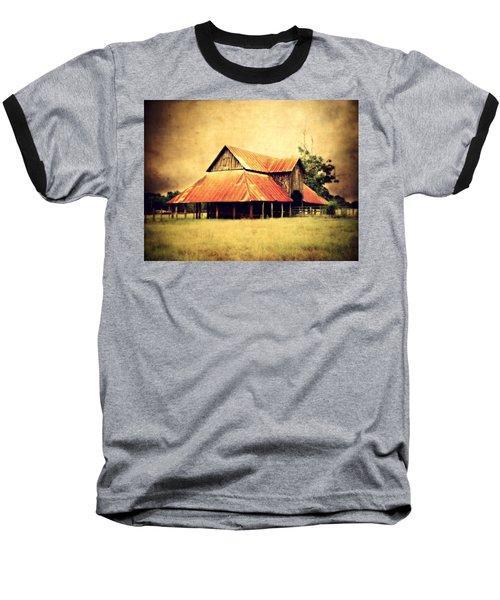 Old Texas Barn Baseball T-Shirt