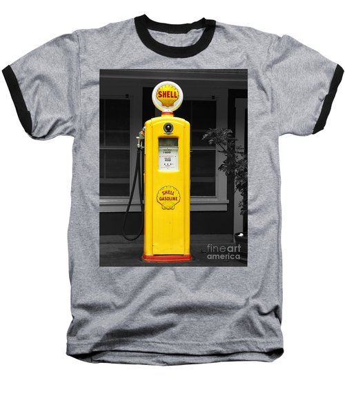Baseball T-Shirt featuring the photograph Old Time Gas Pump by David Lawson