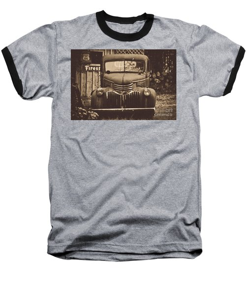 Baseball T-Shirt featuring the photograph Old Times by Alana Ranney