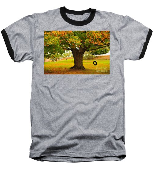 Baseball T-Shirt featuring the photograph Old Tire Swing by Terri Gostola
