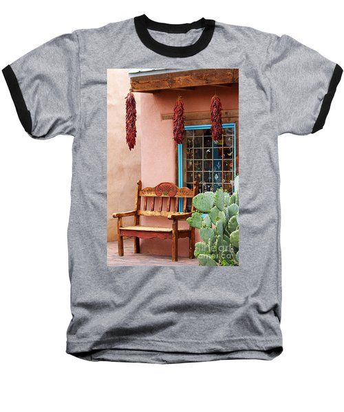 Old Town Albuquerque Shop Window Baseball T-Shirt