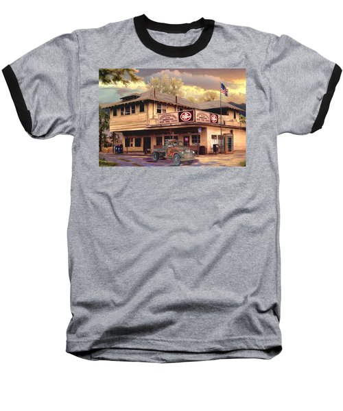 Old Town Irvine Country Store Baseball T-Shirt by Ron Chambers