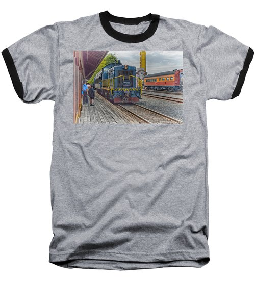 Baseball T-Shirt featuring the photograph Old Town Sacramento Railroad by Jim Thompson