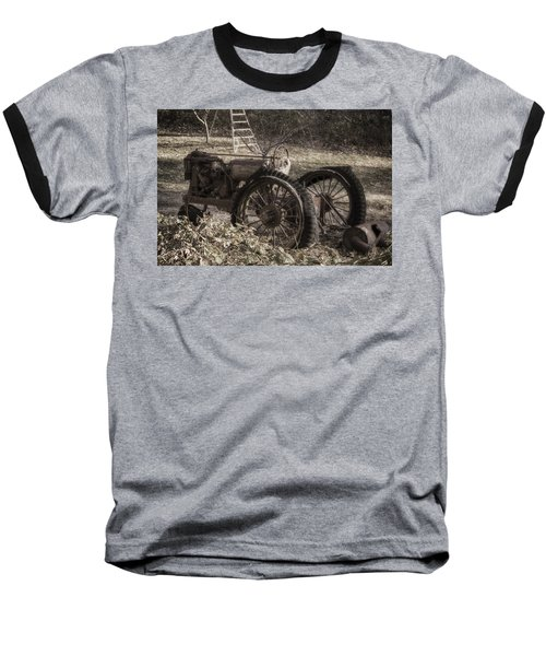Baseball T-Shirt featuring the photograph Old Tractor by Lynn Geoffroy